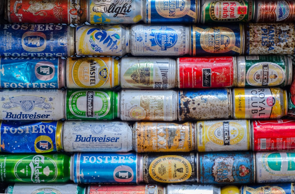 latas cerveza